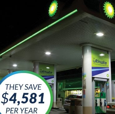 The Green Guys Group helping BP Hampton save money with their LED Lighting upgrade
